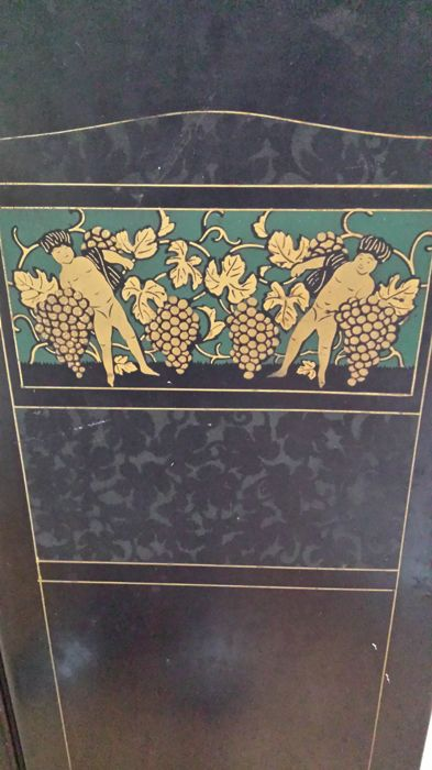 Antique French 3-piece folding screen with figures ...