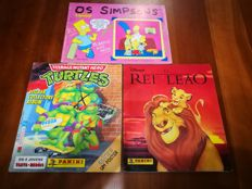 Panini - The Simpsons + Lion King + Turtles - 3 complete albums.