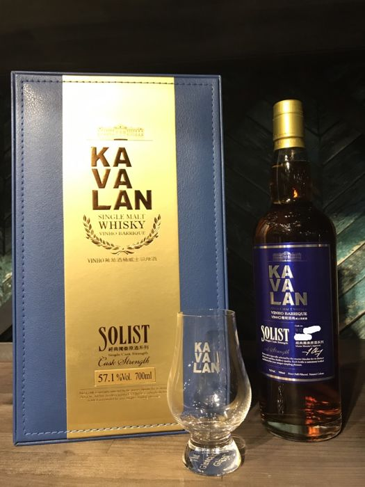 Kavalan Solist Vinho Barrique Single Cask Single Malt Whisky Cask Strength 57.1% Gift Set With Glass