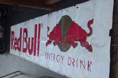 Plastic-coated canvas 500 x 100 cm - Red Bull energy drink - 2000s