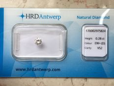 0.28 ct brilliant cut diamond - D VS2