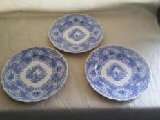 William Hackwood porcelain wall plates 1842-1843
