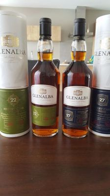 2 bottles - Glenalba 27 years old and 22 years old