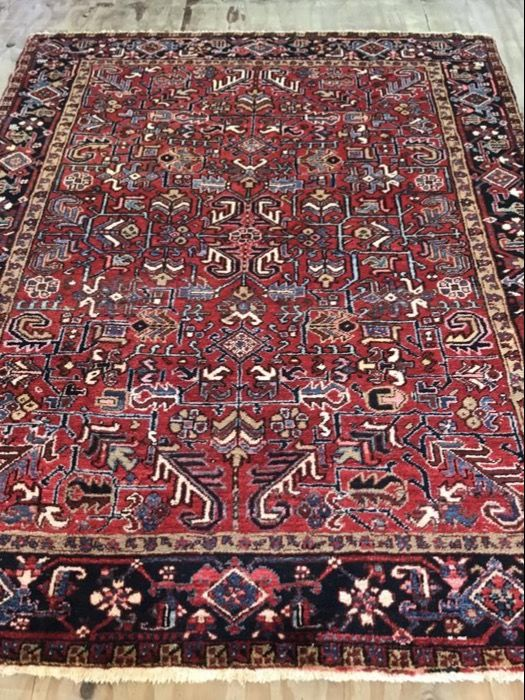 Hand knotted antique persian heriz rug size:280x225 cm