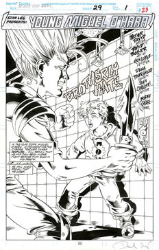 David Boller - Original Art Page - Marvel Comics - Spider-Man 2099 #29 - Page 23 - Title Splash - (1995)