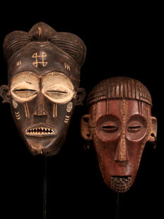 Two masks - CHOKWE - Angola