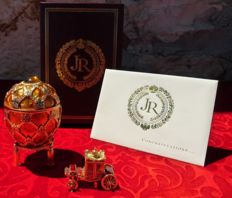 "Joan Rivers Collector Egg - ""The Angel Egg"" Collection  - Enamel Egg - 22k Gold Plated - Signed - New York."