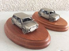 Two identical Mini Cooper Desk model