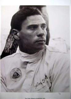 Jim Clark - Monaco Grand Prix 1965 -  Great Photo Print HV Silk MC 250 g/m2