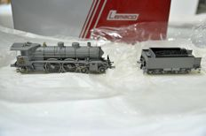 Lemaco H0 - 076 - Steam loco Swiss Bad II D no. 733 gray with 2 head lamps and cab detail