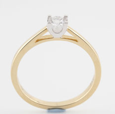 "14 kt ""Limited Edition""(27/50) 97 facets brilliant yellow gold diamond ring, 0.25 ct / G– H - VVS2 / 2.50 g & ring size 59 / New"