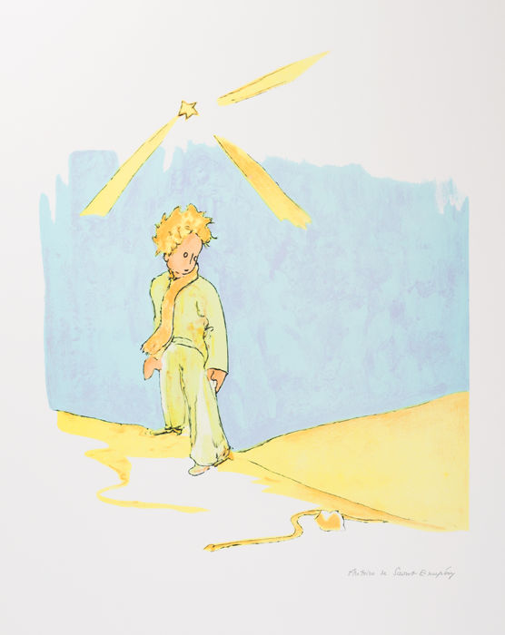 Antoine de Saint-Exupéry (after) - Le Petit Prince et le serpent (The Little Prince and The Snake)