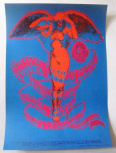 "Steve Miller Blues Band Family Dog Poster San Francisco ""Angel"" Stanley Mouse 1967"