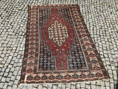 Old PERSIAN Maslagan RUG Hand knotted 192x125 cm -ABAUT 100 YEARS OLD !
