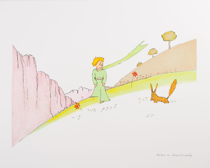 Antoine de Saint-Exupéry (after) - Le Petit Prince et le renard (The Little Prince and The Fox)