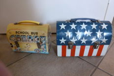 2 metal lunch boxes from the USA - 1960-1970 - Nashville