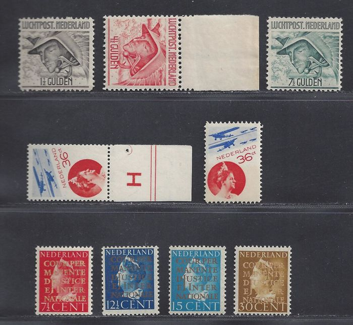Netherlands 1929/1947 - Airmail and Official - NVPH LP6/8, LP9A, 9B, P29/P30 and D16/19