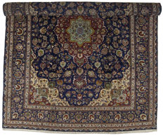 ( SIZE 394x303 CM ) Authentic, Original Persian Carpet ( HAND-knotted ) ( TABRIZ PERSIA IRAN )  ( Period 1940-1950 ) With certificate of authenticity from official appraiser  – (Galleriafarah1970)