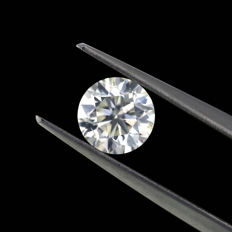 1.06 Ct. Natural G Color  SI1 Round brilliant cut diamond.