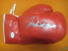 Everlast boxing glove signed jake lamotta with JSA certificate in glove
