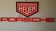 Porsche Chronograph Heuer  dealer plate / Workshop