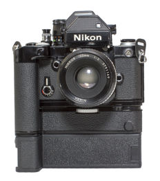 Nikon F2 35mm SLR Manual Focus with MD-3 Motor Drive MB-2 Bat
