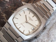 Longines All Steel Square Men's Automatic Watch - 1970s - Original Band & Crown