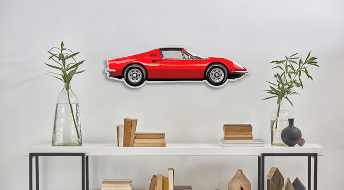 Decoratief object - SL-Halmo Interpretation  FERRARI 246 GTS - 2018 (1 items)