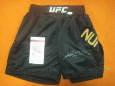 UFC boxing shorts signed Amanda Nunes with JSA certificate