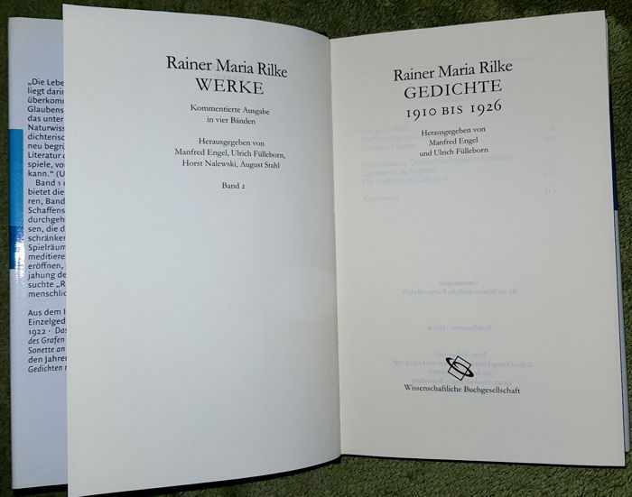 Rainer Maria Rilke Lot With 5 Editions In 8 Bindings 1926