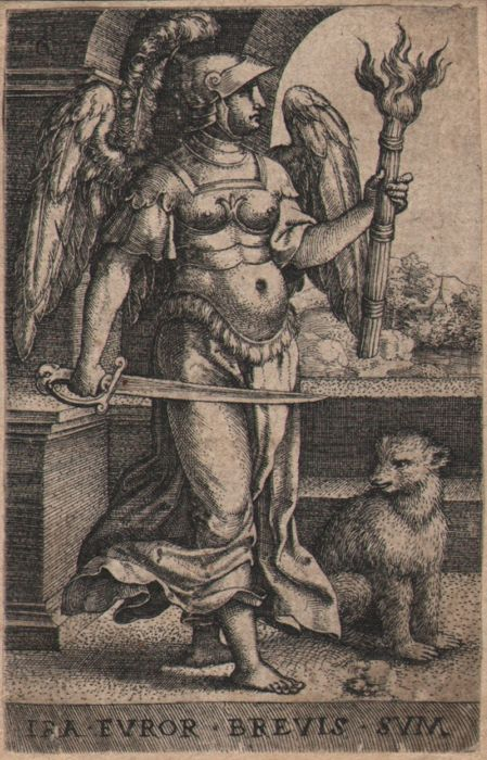 Georg Pencz (ca 1500-1550) - Furor (Ira) from the seven deadly sins - Ca. 1541