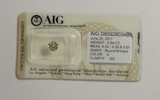 0.94 ct Round cut diamond G SI2
