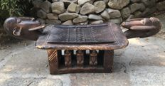 Ancient African carved hardwood stool