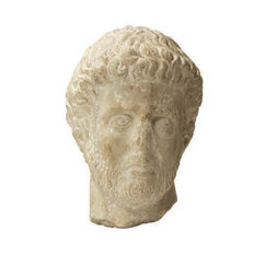 Roman male head, 22.8, 15.5 cm.