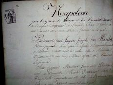 Document notarial sous l'occupation de la Belgique  par   NAPOLEON    Malines  7 mai 1806