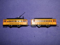 "Mehano H0 - Tram and trailer ""Downtown"" with drive"