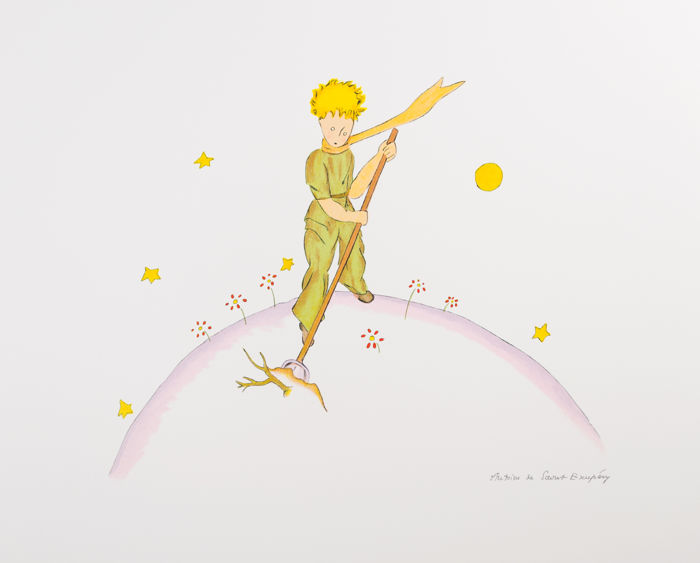 Antoine de Saint-Exupéry (after) - Le Petit Prince sur sa planète (The Little Prince On His Planet)