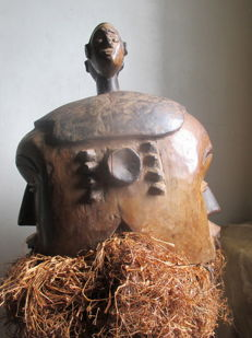 Important helmet-mask Janus IGBO Cross River