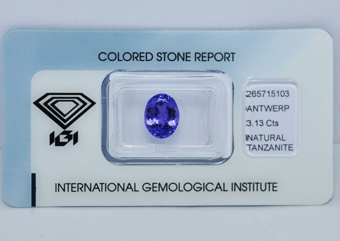 Tanzanite violet blue - 3.13 ct