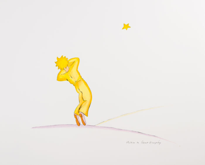 Antoine de Saint-Exupéry (after) - Le Petit Prince endormi (The Little Prince Falling Asleep)
