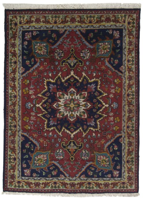 (140 x 100 cm) Original, authentic Persian Tabriz rug (Iran) - With certificate of authenticity from an official appraiser, from the 1950s - (Galleria Farah 1970)