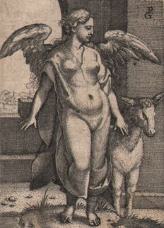 Georg Pencz (ca 1500-1550) - Pigritia (Sloth) from the seven deadly sins - Ca. 1541