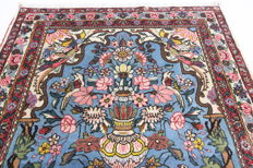 Fine Persian Sarough carpet, 1.62 x 1.14 m, blue hand-knotted oriental carpet from Iran, excellent condition