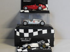 Minichamps - Scale 1/43 - Lot with 3 classic sports car models: Alfa Romeo, Auto Union & De Tomaso