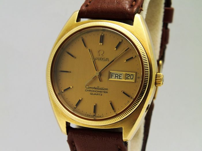 98c771d48d0 Omega constellation solid gold   steel wrist watch men s 1970 - Catawiki