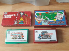 Lot van 4 Game & Watch : Mario Cement Factory , Black Jack , Bomb Sweeper , Safebuster.