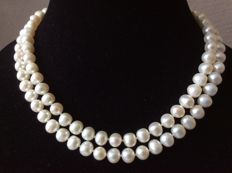 Necklace with baroque pearls - Length: 86 cm/34 inches