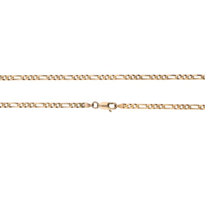 14 kt yellow gold curb link necklace – Length: 53 cm – Weight: 8.94 g