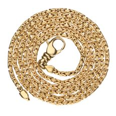 Yellow gold Byzantine link necklace of 18 kt - Length: 62 cm