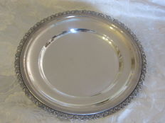 Silver plate, Italy, 1960
